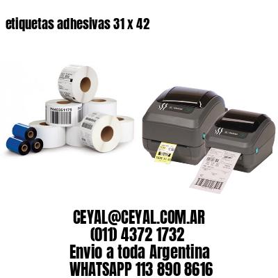 etiquetas adhesivas 31 x 42