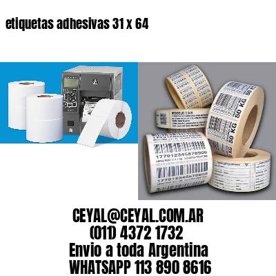etiquetas adhesivas 31 x 64
