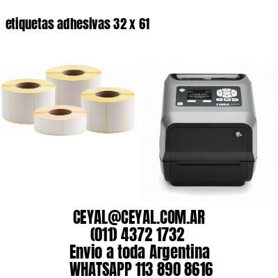 etiquetas adhesivas 32 x 61
