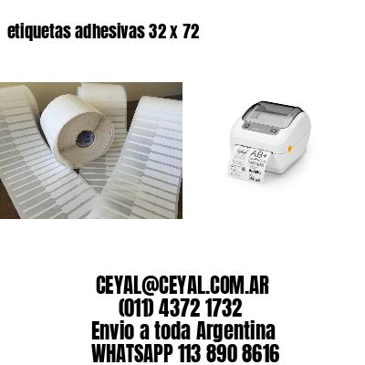 etiquetas adhesivas 32 x 72