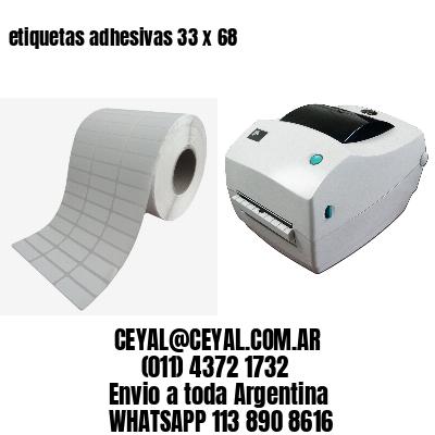 etiquetas adhesivas 33 x 68