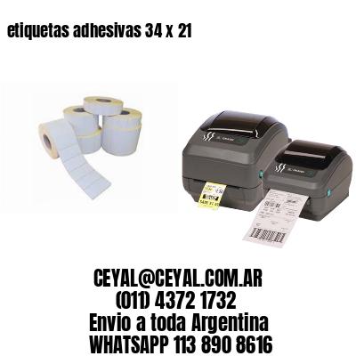 etiquetas adhesivas 34 x 21