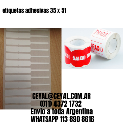 etiquetas adhesivas 35 x 51