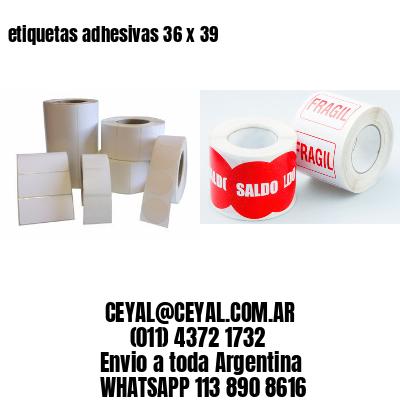 etiquetas adhesivas 36 x 39