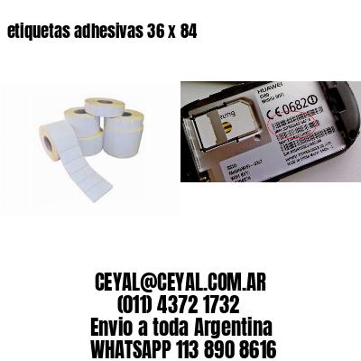 etiquetas adhesivas 36 x 84