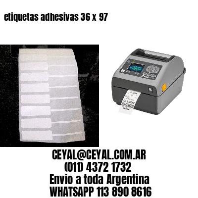 etiquetas adhesivas 36 x 97