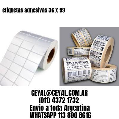 etiquetas adhesivas 36 x 99