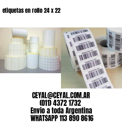 etiquetas en rollo 24 x 22