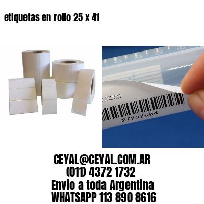 etiquetas en rollo 25 x 41