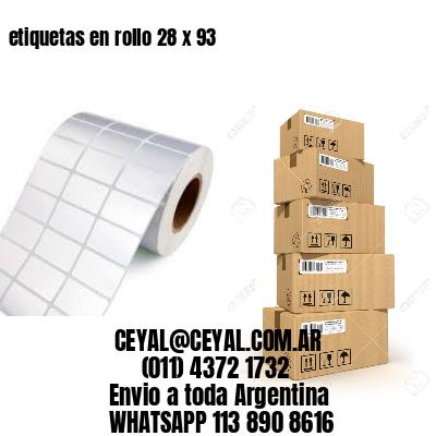 etiquetas en rollo 28 x 93