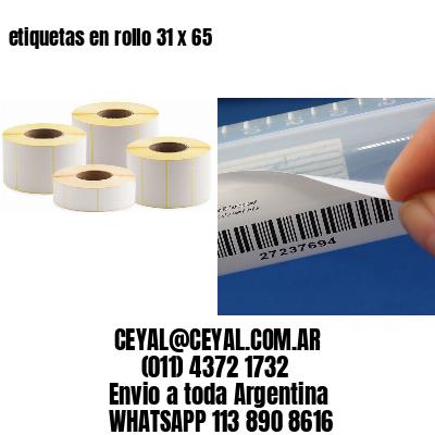 etiquetas en rollo 31 x 65