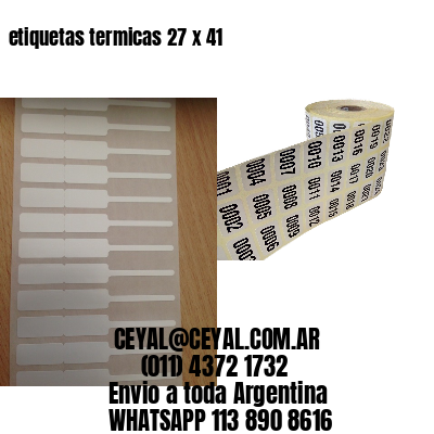 etiquetas termicas 27 x 41