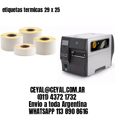 etiquetas termicas 29 x 25