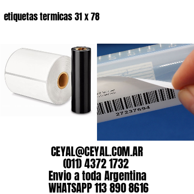 etiquetas termicas 31 x 78