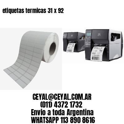 etiquetas termicas 31 x 92