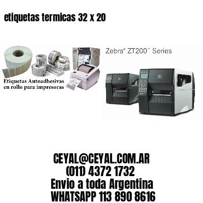 etiquetas termicas 32 x 20