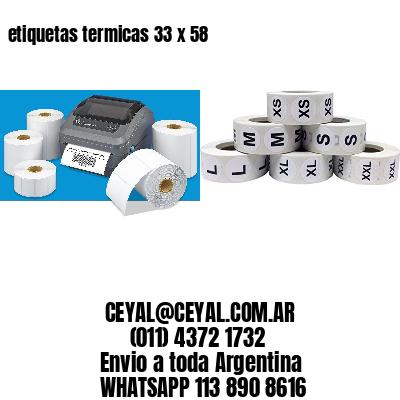 etiquetas termicas 33 x 58
