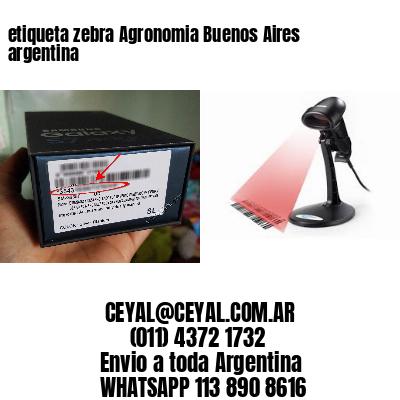 etiqueta zebra Agronomia Buenos Aires argentina