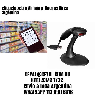 etiqueta zebra Almagro  Buenos Aires argentina