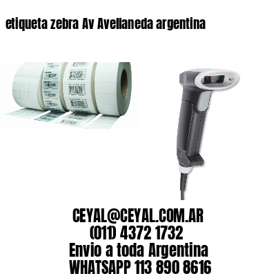 etiqueta zebra Av Avellaneda argentina