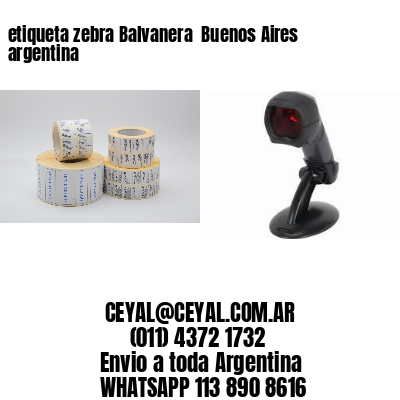 etiqueta zebra Balvanera  Buenos Aires argentina