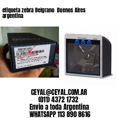 etiqueta zebra Belgrano  Buenos Aires argentina