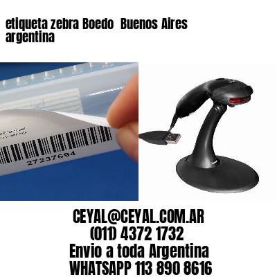 etiqueta zebra Boedo  Buenos Aires argentina