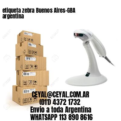 etiqueta zebra Buenos Aires-GBA argentina