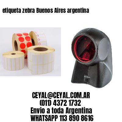 etiqueta zebra Buenos Aires argentina