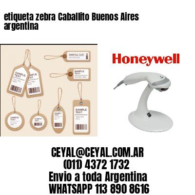 etiqueta zebra Caballito Buenos Aires argentina