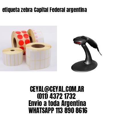 etiqueta zebra Capital Federal argentina