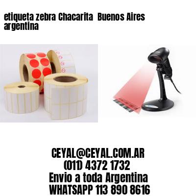 etiqueta zebra Chacarita  Buenos Aires argentina