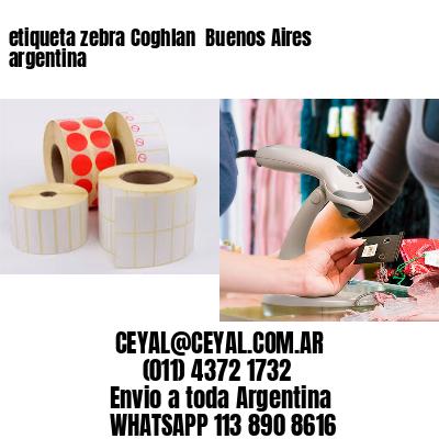 etiqueta zebra Coghlan  Buenos Aires argentina