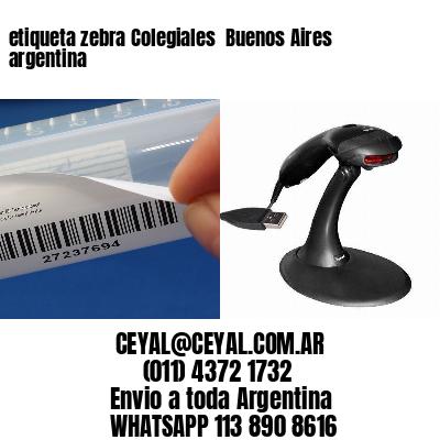 etiqueta zebra Colegiales  Buenos Aires argentina