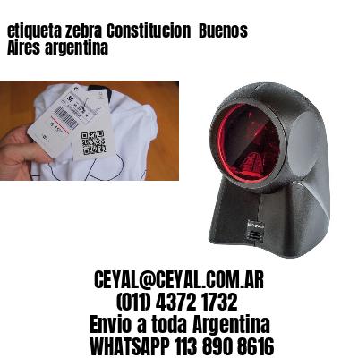 etiqueta zebra Constitucion  Buenos Aires argentina