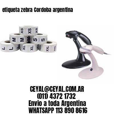 etiqueta zebra Cordoba argentina