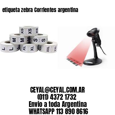 etiqueta zebra Corrientes argentina
