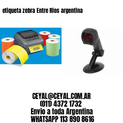 etiqueta zebra Entre Rios argentina