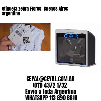etiqueta zebra Flores  Buenos Aires argentina