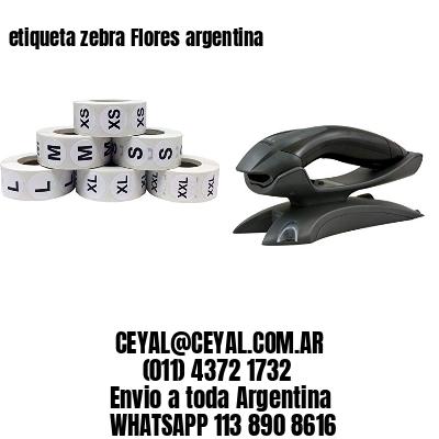 etiqueta zebra Flores argentina