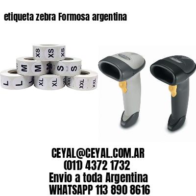 etiqueta zebra Formosa argentina