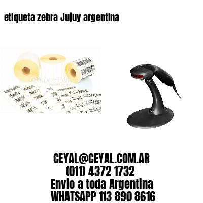 etiqueta zebra Jujuy argentina