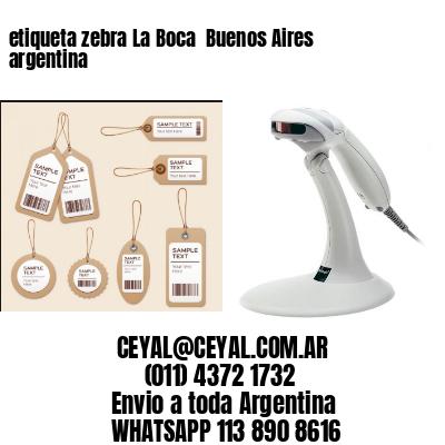 etiqueta zebra La Boca  Buenos Aires argentina