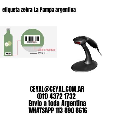 etiqueta zebra La Pampa argentina