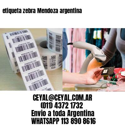 etiqueta zebra Mendoza argentina