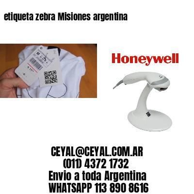 etiqueta zebra Misiones argentina