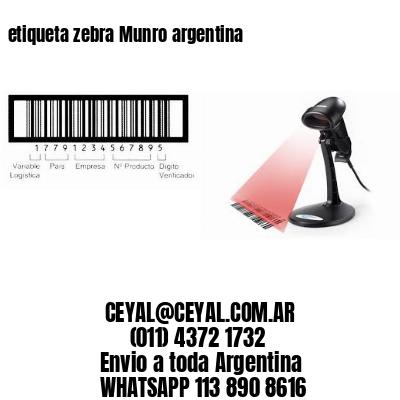 etiqueta zebra Munro argentina