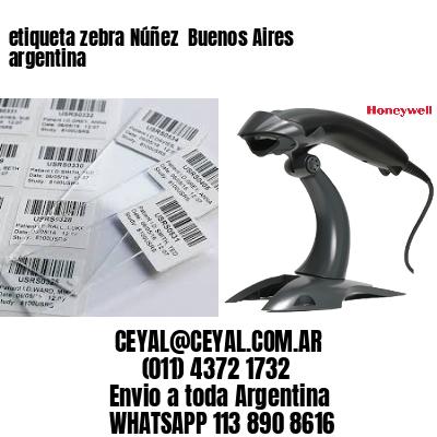 etiqueta zebra Núñez  Buenos Aires argentina