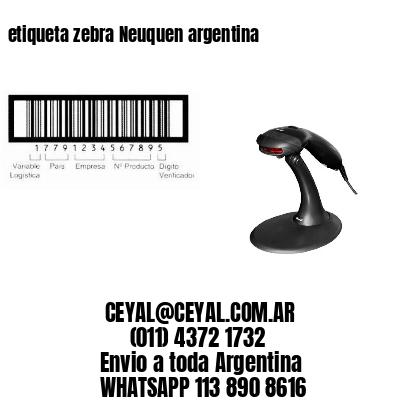 etiqueta zebra Neuquen argentina