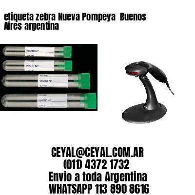 etiqueta zebra Nueva Pompeya  Buenos Aires argentina